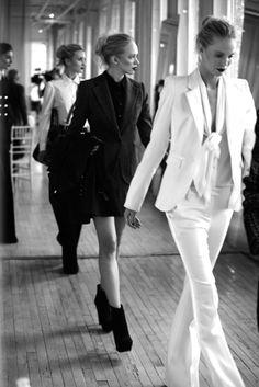I love women in tuxedo, so chic!  Rachel Z.