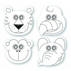 Safari - maski papierowe do kolorowania