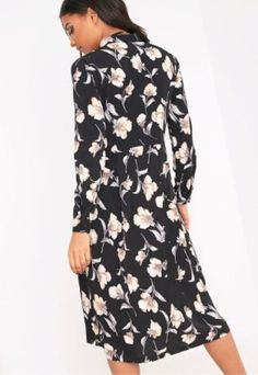 e8348d4255 PrettyLittleThing Print Midi Shirt Dress Black Size UK 8 rrp 15 DH170 EE 04   fashion  clothing  shoes  accessories  womensclothing  dresses (ebay link)