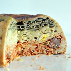 Timpano  Agree that you can make this to look like brains for Halloween!  LOL  Can be made totally Vegetarian as well!!!!
