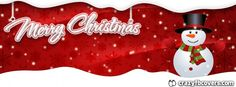 Cute #Snowman Merry #Christmas Facebook Cover - Facebook Timeline Cover Photo - Fb Cover