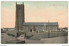 St Buryan Church, Cornwall, 1910 - Valentine's Postcard