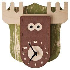 3D Clock Moose