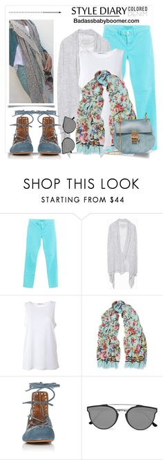 """Spring Trend - Coloured Jeans"" by badassbabyboomer ❤ liked on Polyvore featuring J Brand, Zadig & Voltaire, T By Alexander Wang, Dolce&Gabbana, Isabel Marant, RetroSuperFuture and Chloé"