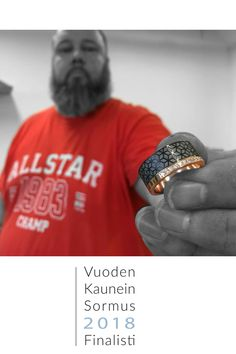 Me and the most beautiful ring of the year 2018 finalist. Beautiful Rings, Most Beautiful, Institute Of Design, Helsinki, Wedding Rings, Fashion, Pretty Rings, Moda, Pretty Engagement Rings