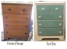 Image detail for -Annabellea Shabby Coast Cottage dresser before and after