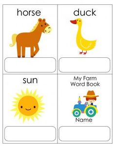 $0-Farm Word Book from MiTeacher Girl Store on TeachersNotebook.com -  (3 pages)