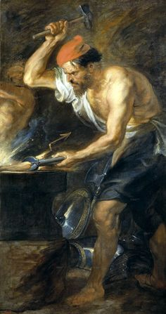 The Perfect Effect Canvas Of Oil Painting 'Rubens Peter Paul Vulcan Forging Jupiter's Lightening Bolts 1636 38 ' ,size: 16 X 30 Inch / 41 X 77 Cm ,this Best Price Art Decorative Canvas Prints Is Fit For Nursery Gallery Art And Home Artwork And Gifts Peter Paul Rubens, Loki, Thor, Pedro Pablo Rubens, Mythology Paintings, Symbole Viking, Pierre Paul, Greek Pantheon, Baroque Painting