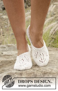 "Slippers with lace pattern in ""Nepal"".Free Pattern"