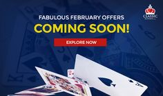 Fabulous February offers coming soon! Be ready to pounce on them!  #rummy #classicrummy #february #fabulousfebruary #feboffers #onlinerummy
