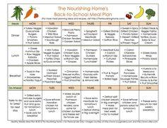 1st Week Back-to-School Meal Plan w/ free blank meal-planning printable