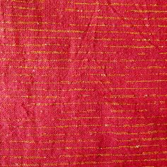 Metallic Chambray - Crimson (Red + Gold) | Cotton