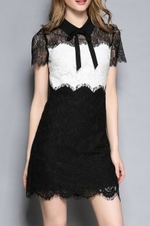 Join Dezzal, Get $100-Worth-Coupon GiftLace Shirt Neck Color Block DressFor Boutique Fashion Lovers Only: Designer Collection·New Arrival Daily· Chic for Every Occasion