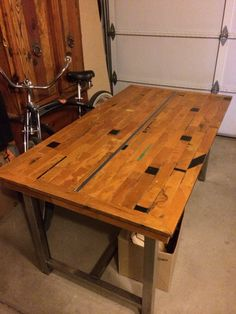 Recycled Gym Floor Dining Room Table A Well Kid And