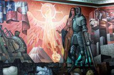 Mural de González Camarena une a México y Chile - Noticias MVS