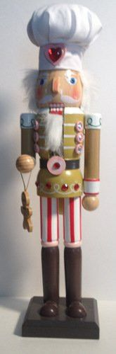 Gingerbread Baker Nutcracker - Made of Solid Wood - Perfect size at tall - Gingerbread nutcracker is ready greet all your holiday guests! A traditional symbol of the season, detailed wooden nutcra Nutcracker Christmas Decorations, Nutcracker Sweet, Nutcracker Soldier, Sugar Plums Dancing, Nutty Buddy, Christmas Soldiers, Gingerbread Man Cookies, Christmas Holidays, Xmas