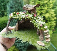 Miniature Fairy Gardens | Fairy Gardens - I used to love making these! Maybe one day I'll make them for my daughter!