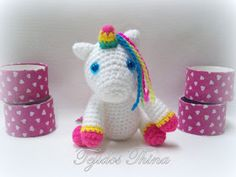 unicornio amigurumi Crochet Horse, Hello Kitty, Baby Shoes, Knitting, Kids, Villa, Couture, Crochet Unicorn, Crochet Baby Dresses