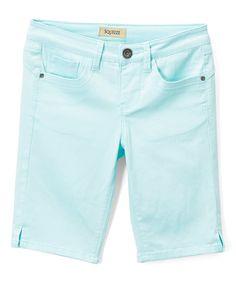 Take a look at this Powder Mint Bermuda Shorts - Girls today!