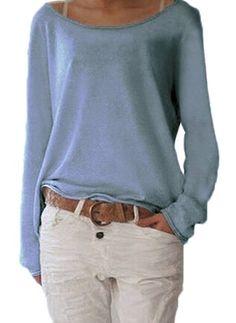 Lässige Kleidung Lange Ärmel Solide Baumwolle Rundhals Hemden