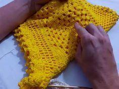 tutorial /Crochet shorts lace part my friend diy Crochet Romper, Bikinis Crochet, Crochet Bikini Pattern, Crochet Skirts, Crochet Diagram, Crochet Lace, Crochet Patterns, Como Fazer Short, Parte Superior Del Bikini