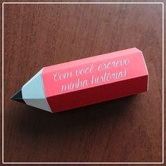 DIY: Caixa para carta em formato de lápis