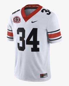 Nike College (Georgia) Men's Limited Football Jersey. Nike.com Football Jerseys, College Football, Grey Fashion, Nike, Georgia, Men, Soccer Jerseys, Collage Football