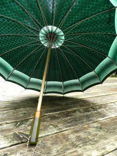 Vintage Umbrella - Antique Parasol - Rain Umbrella - Wedding Umbrella - Bakelite Handle via Etsy
