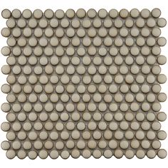 SomerTile 12.25x12-in Penny 3/4-in Caffe Porcelain Mosaic Tile (Pack of 10) | Overstock.com Shopping - Big Discounts on Somertile Wall Tiles...