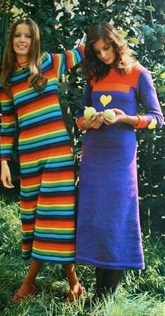 Knit maxi dresses (on the right Apollonia van Ravenstein)