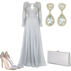 A fashion look from October 2016 featuring embelished dress, lucite shoes and jimmy choo purses. Browse and shop related looks. Dressy Outfits, Chic Outfits, Fashion Outfits, Fashion Ideas, Elegant Dresses, Pretty Dresses, Reign Fashion, Formal Gowns, Polyvore Outfits
