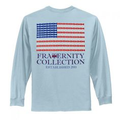 Patriotic Flag | Fraternity Collection Fraternity Collection, Marley Lilly, Monogram Gifts, Jewelry Gifts, Preppy, Long Sleeve Shirts, Flag, Sweatshirts, Clothes