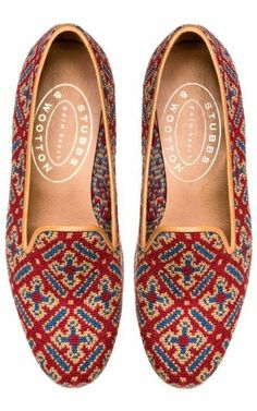 Stubbs & Wootton Cuenca Red Loafer by for Preorder on Moda Operandi These would look super cute with white girlfriend jeans, little white vest and a cute thin red belt. Cute Shoes, Me Too Shoes, Look Fashion, Fashion Shoes, Red Loafers, Oxfords, Shoe Boots, Shoe Bag, Women's Shoes