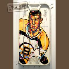 """This is artist Anthony Jenkins second portrait of Bobby Orr for his """"Game Faces"""" table hockey painting exhibition. The Globe and Mail's veteran caricaturist uses his incredible skill to capture the iconic defenseman as a Boston Bruins' rookie. Bobby Orr, Boston Bruins, Sports Art, Nhl, Hockey, Faces, The Incredibles, Artists, Portrait"""
