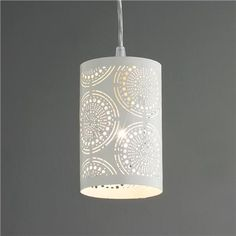 Metal Lace Pendant Light - great idea for the patio.