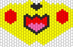 Pikachu Full Face Mask Bead Pattern