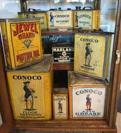 Excellent Conoco Motor Oil Can Collection!