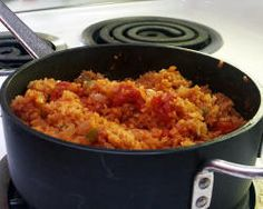 Spanish Rice Recipe. A great side dish on Mexican nights.