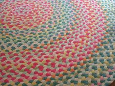 60+Confetti+rug+braided+rug+created+from+new+by+greenatheartrugs,+$392.00