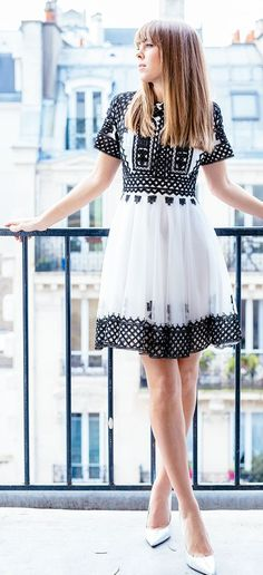 Black Embroidery Inspiration Dress
