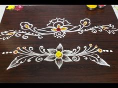 side designs for friday kolam varalakshmi vratham Rangoli Side Designs, Simple Rangoli Border Designs, Rangoli Designs Latest, Boarder Designs, Rangoli Borders, Free Hand Rangoli Design, Small Rangoli Design, Rangoli Patterns, Rangoli Ideas