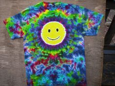 Smiley Face Tie Dye Size Youth Large by tiedyetodd on Etsy, $25.00