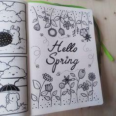 Hello Spring! Benvenuta Primavera! - Bullet Journal #spring #doodle #bulletjournal