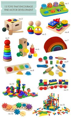 "13-Toys-That-Encourage-Fine-Motor-Development Also check other ""guides"" for ideas"