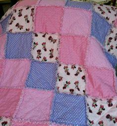 Minnie Mouse Rag Quilt