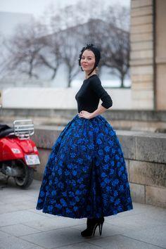 Uliana Sergienko on Street Style Aesthetic. Beautiful skirt!