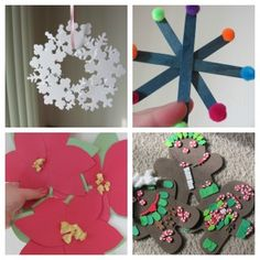 Easy Christmas Crafts for Kids Christmas Activities, Christmas Crafts For Kids, All Things Christmas, Holiday Crafts, Christmas Decorations, Christmas Ideas, Crafts For Kids To Make, Diy Crafts For Kids, Craft Ideas