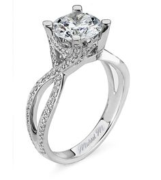 Gorgeous engagement ring by Michael M. Come in and check it out at Treiber and Straub, Brookfield, WI