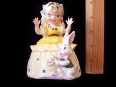Vintage Original 1956 Napco Alice in Wonderland Figurine  Nursery Rhyme (09/27/2016)