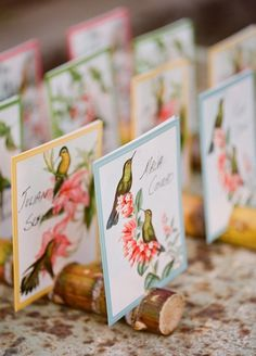 Bringing a Little Sunshine to Your Afternoon: Tropical Vintage Wedding Inspiration! (Featuring Beaches Instead of Barns!): Save the Date: glamour.com